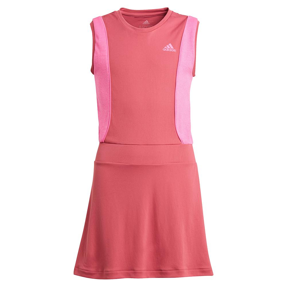 Girls ` Pop Up Tennis Dress Wild And Screaming Pink