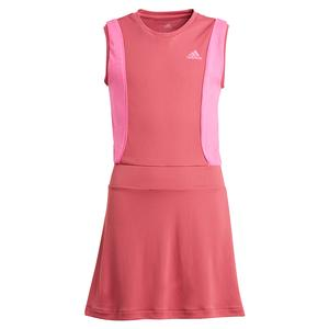 Girls` Pop Up Tennis Dress Wild and Screaming Pink