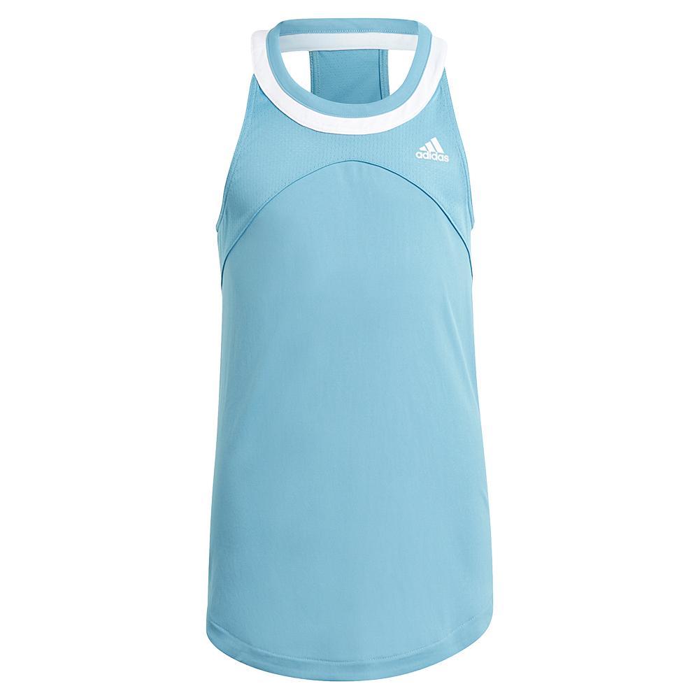 Girls ` Club Tennis Tank Hazy Blue And White