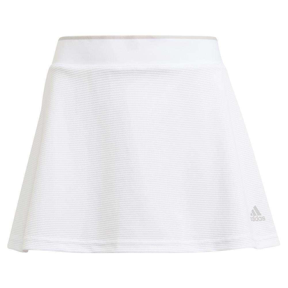 Girls ` Club Tennis Skort White And Grey Two