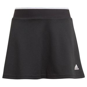Girls` Club Tennis Skort Black and White