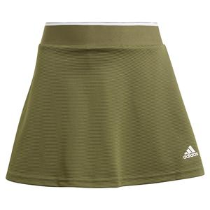 Girls` Club Tennis Skort Wild Pine and White
