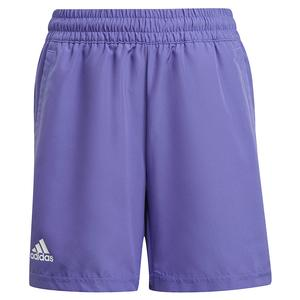 Boys` Club 5 Inch Tennis Short Purple and White