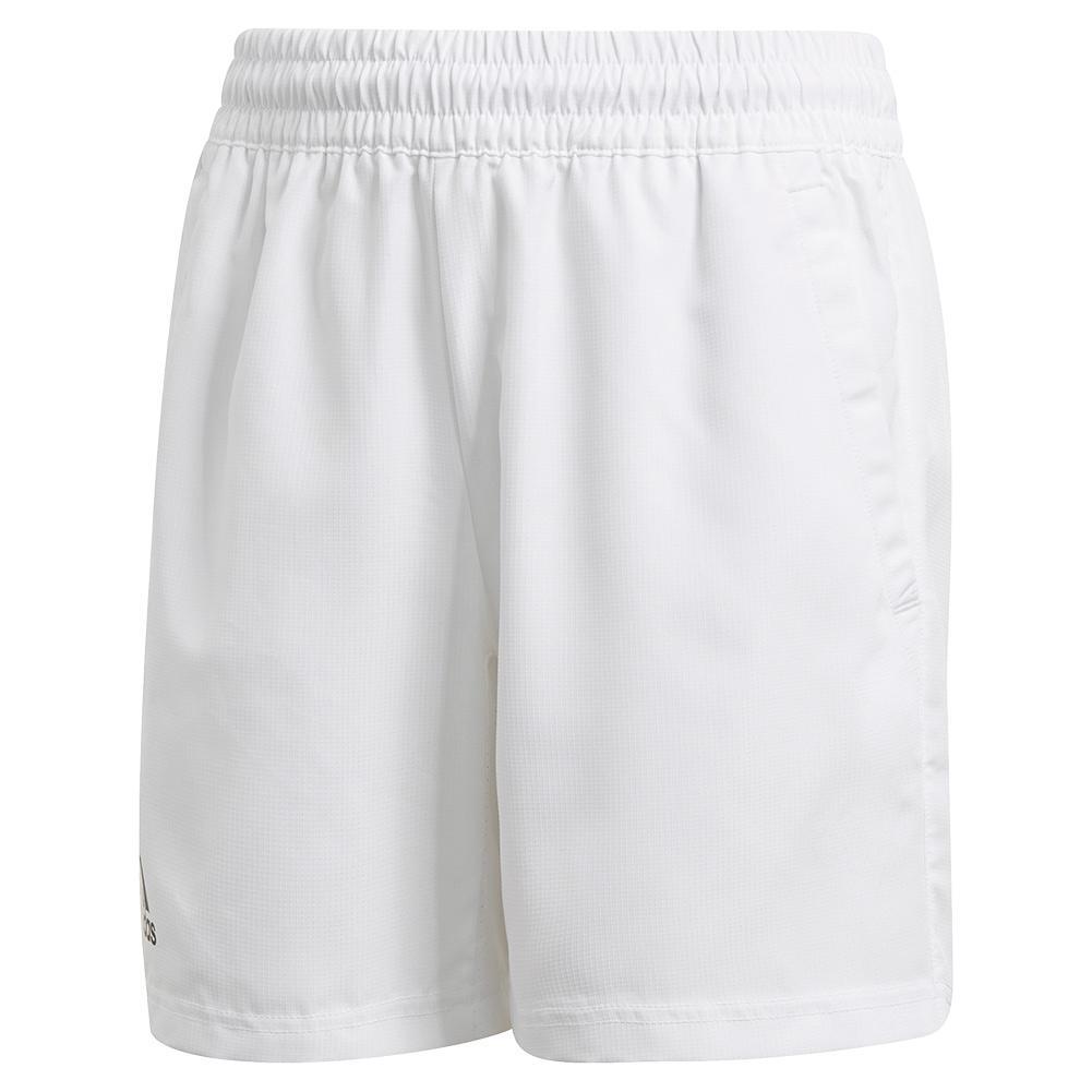 Boys ` Club 5 Inch Tennis Short White And Black