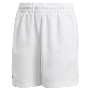 Boys` Club 5 Inch Tennis Short White and Black