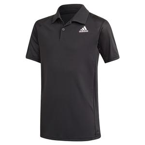 Boys` Club Tennis Polo Black and White