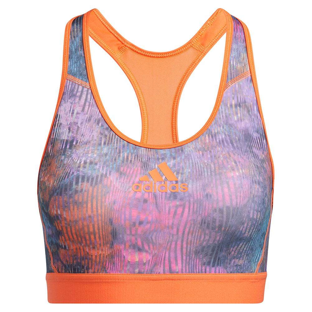 Women's Don ` T Rest Floral Training Bra Wild Teal And Multicolor