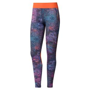 Women`s Techfit Floral Long Tight Wild Teal and Multicolor