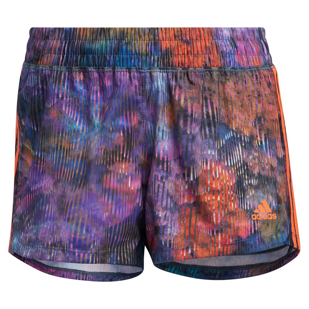 Women's Pacer 3- Stripe Woven Floral Training Short Wild Teal And Multicolor