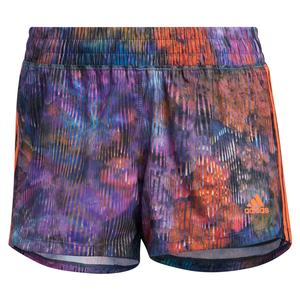 Women`s Pacer 3-Stripe Woven Floral Training Short Wild Teal and Multicolor