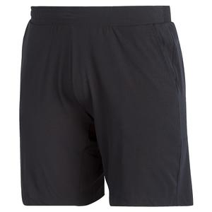 Men`s Ergo 7 Inch Tennis Short Black and White