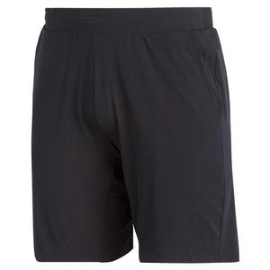Men`s Ergo 9 Inch Tennis Short Black and White