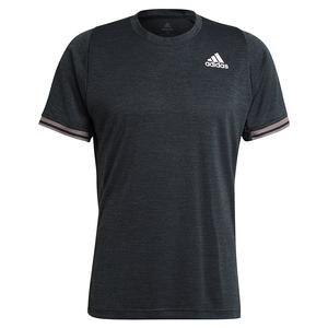Men`s FreeLift Tennis Top Dark Grey Heather and White