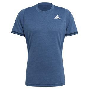 Men`s FreeLift Tennis Top Crew Blue and White