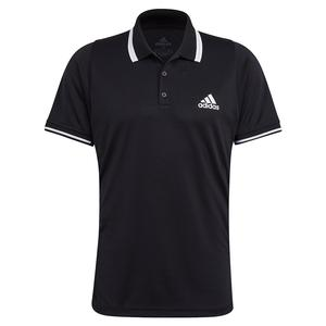 Men`s FreeLift Tennis Polo Black and White