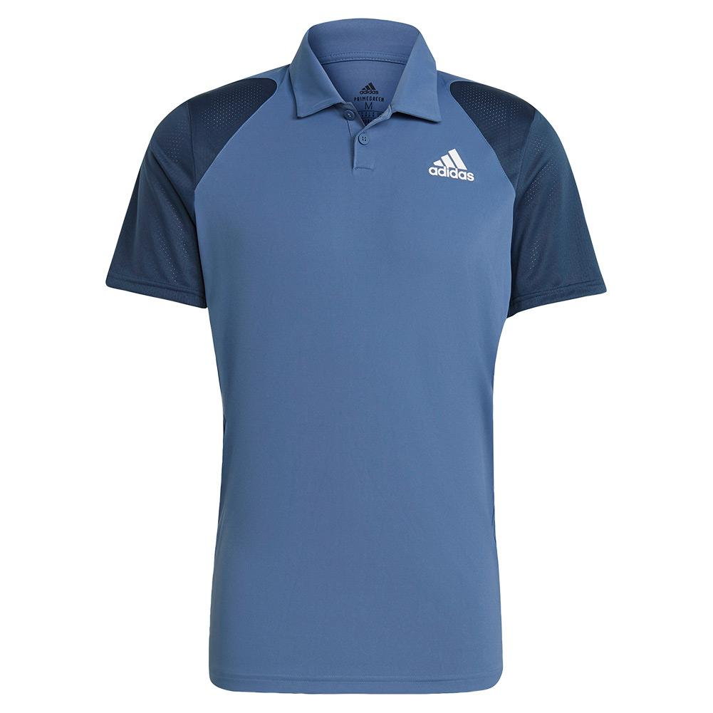 Tennisexpress Men`s Club Tennis Polo Crew Blue and Navy
