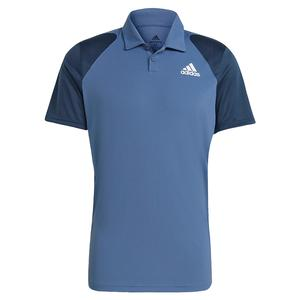 Men`s Club Tennis Polo Crew Blue and Navy