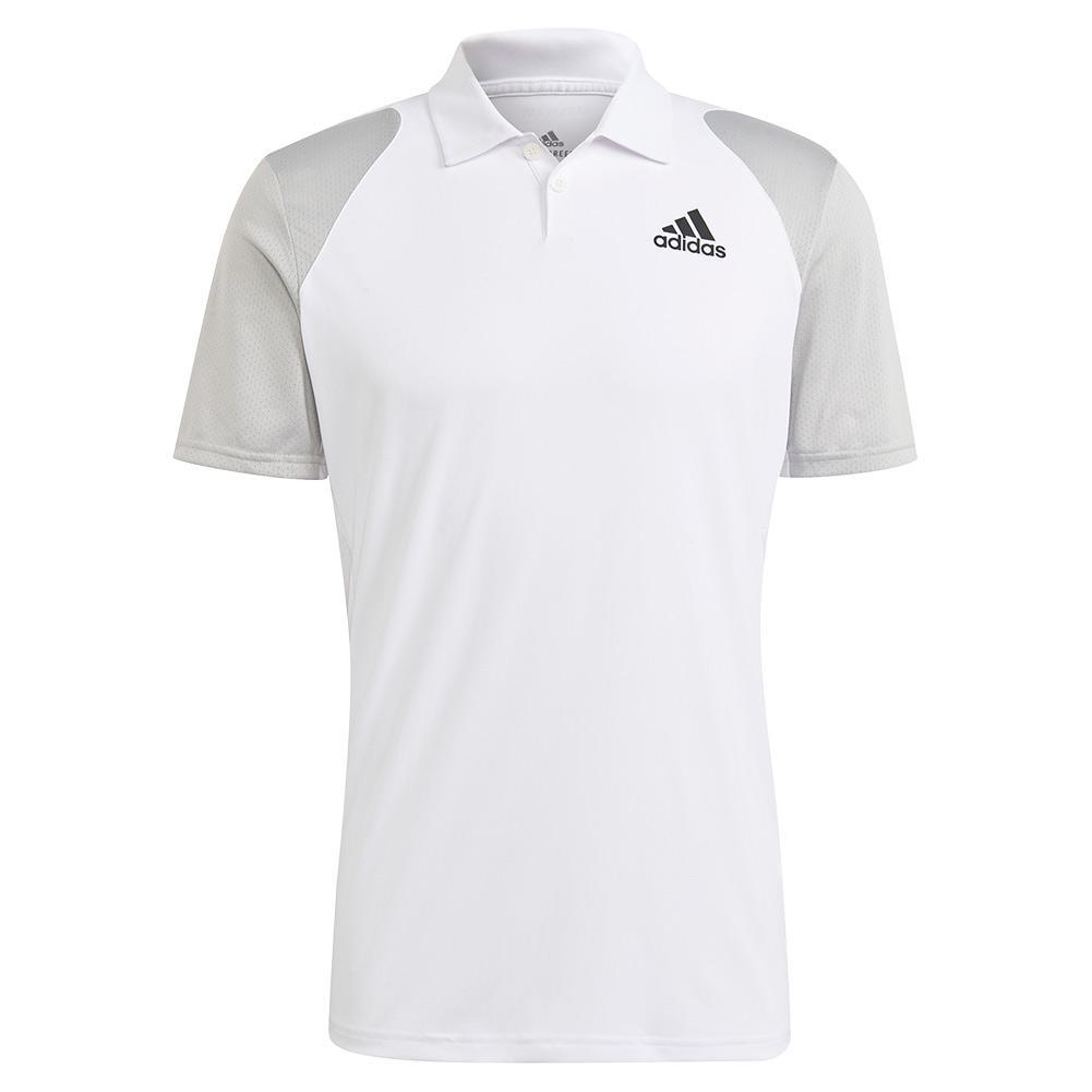 Men's Club Tennis Polo White And Black