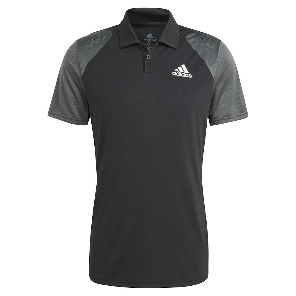Men's Club Tennis Polo Black And Grey Six
