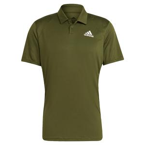 Men`s Club Tennis Polo Wild Pine and White