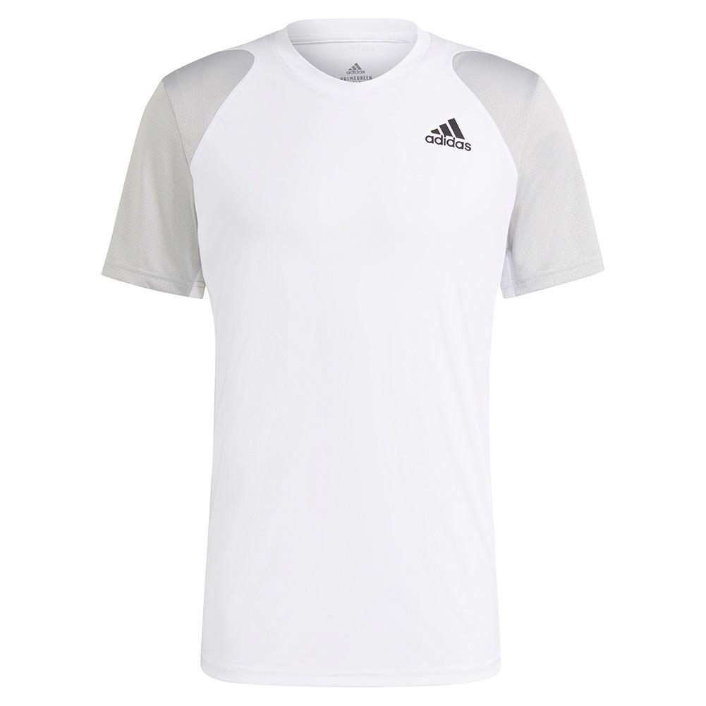 Men's Club Tennis Top White And Grey Two