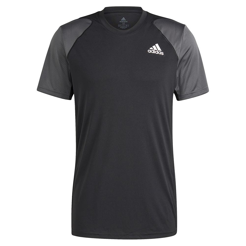 Men's Club Tennis Top Black And Grey Six