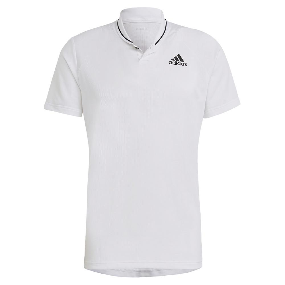 Men's Club Rib Tennis Polo White And Black
