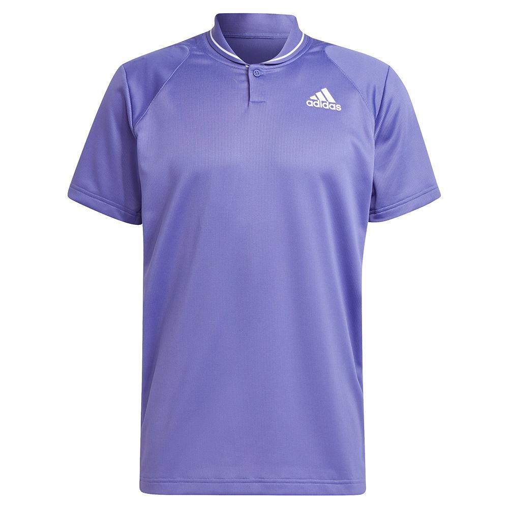 Men's Club Rib Tennis Polo Purple And White