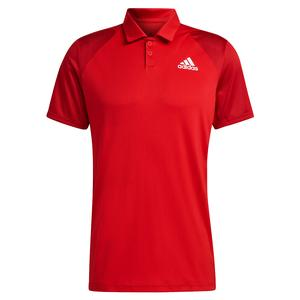 Men`s Club Tennis Polo Scarlet and Team Power Red