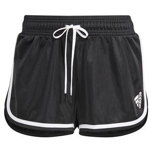 Women`s Club 2 in 1 Tennis Short Black and White