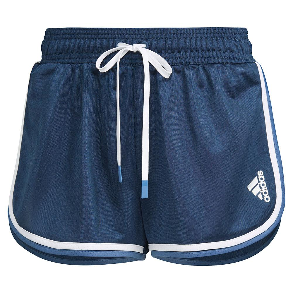 Women's Club 2 In 1 Tennis Short Crew Navy And White