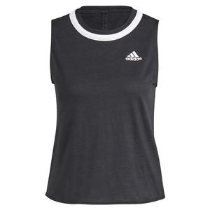 Women`s Club Knotted Tennis Tank Black and White