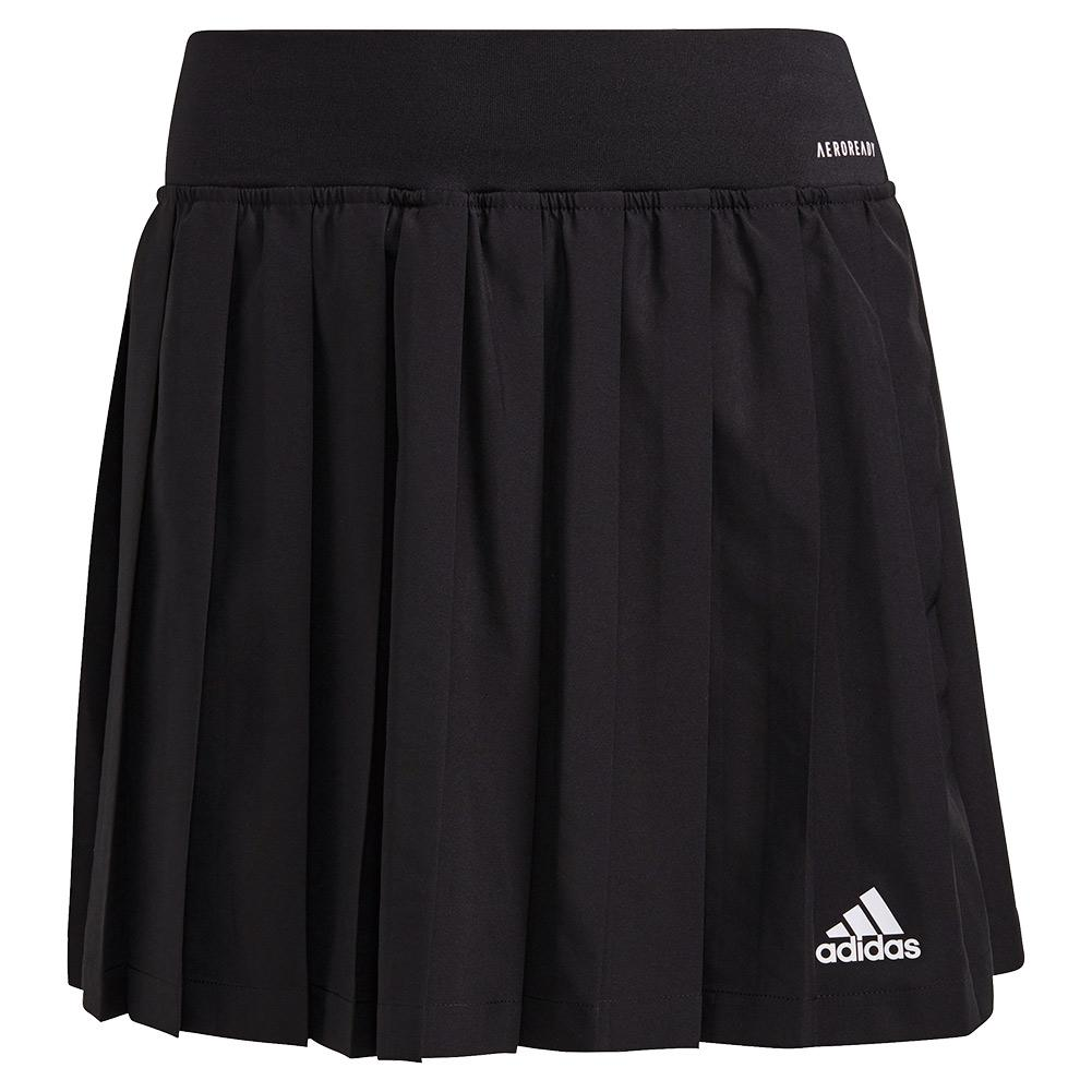 Women's Club Pleated 14.5 Inch Tennis Skort Black And White