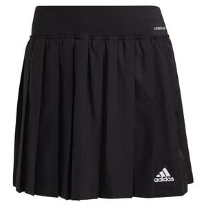 Women`s Club Pleated 14.5 Inch Tennis Skort Black and White