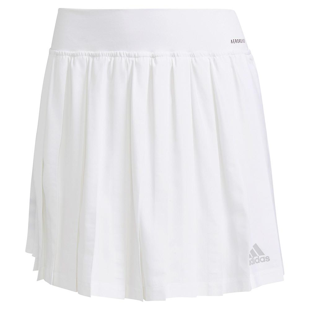 Women's Club Pleated 14.5 Inch Tennis Skort White And Grey Two