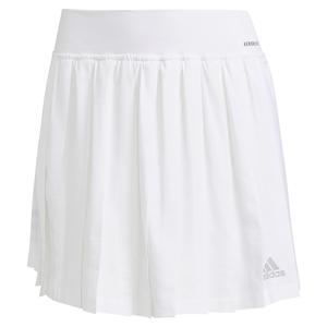 Women`s Club Pleated 14.5 Inch Tennis Skort White and Grey Two