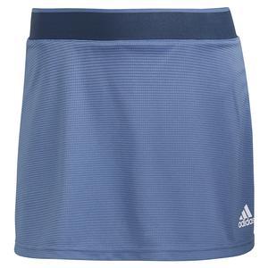 Women`s Club 13 Inch Tennis Skort Crew Blue and White