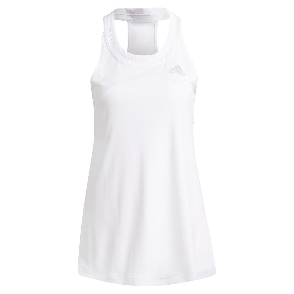 Women's Club Tennis Tank White And Grey Two