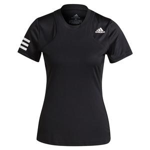 Women`s Club Tennis Top Black and White