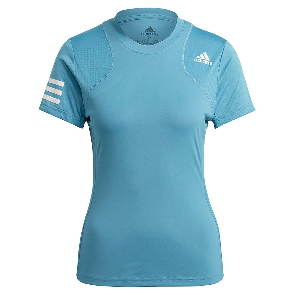 Women's Club Tennis Top Hazy Blue And White