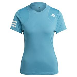 Women`s Club Tennis Top Hazy Blue and White