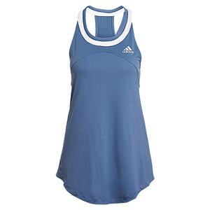 Women`s Club Tennis Tank Crew Blue and White