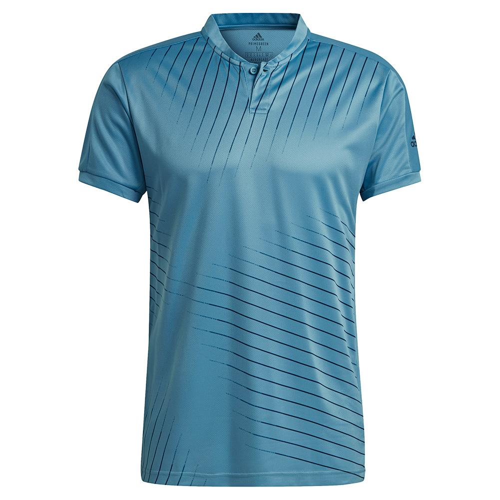 Men's Graphic Tennis Top Hazy Blue