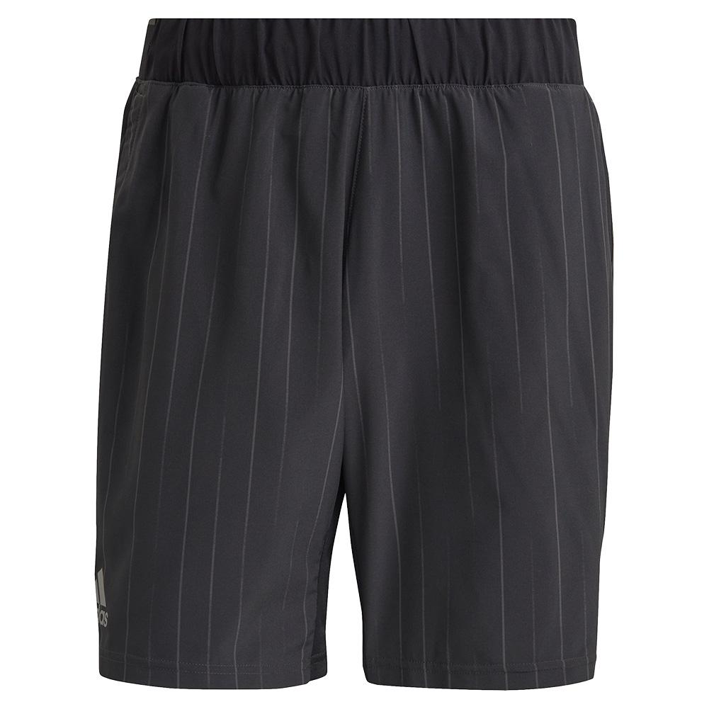 Men's Graphic 7 Inch Tennis Short Black