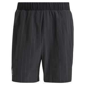 Men`s Graphic 7 Inch Tennis Short Black