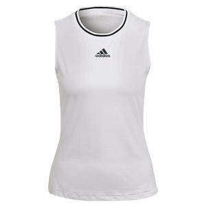 Women`s Match Tennis Tank White and Black