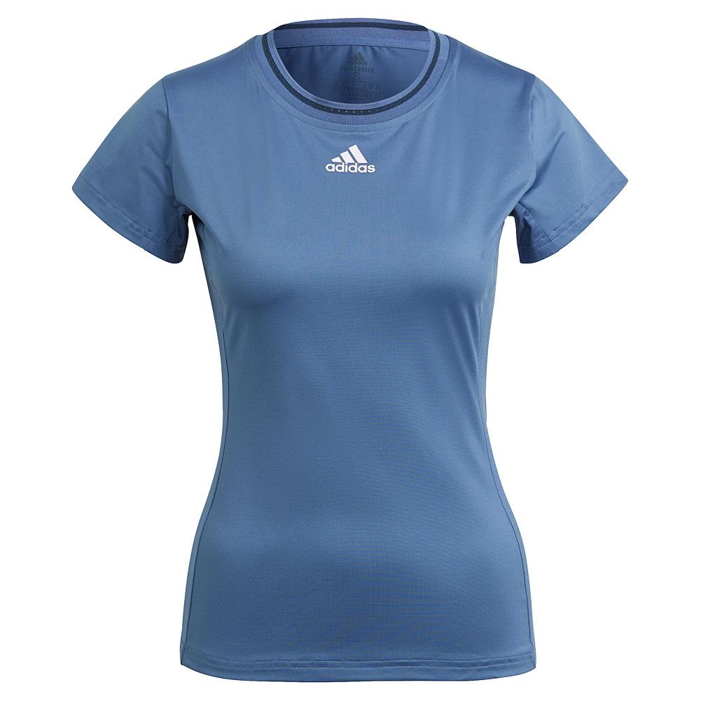 Women's Aeroready Match Tennis Top Crew Blue And Navy