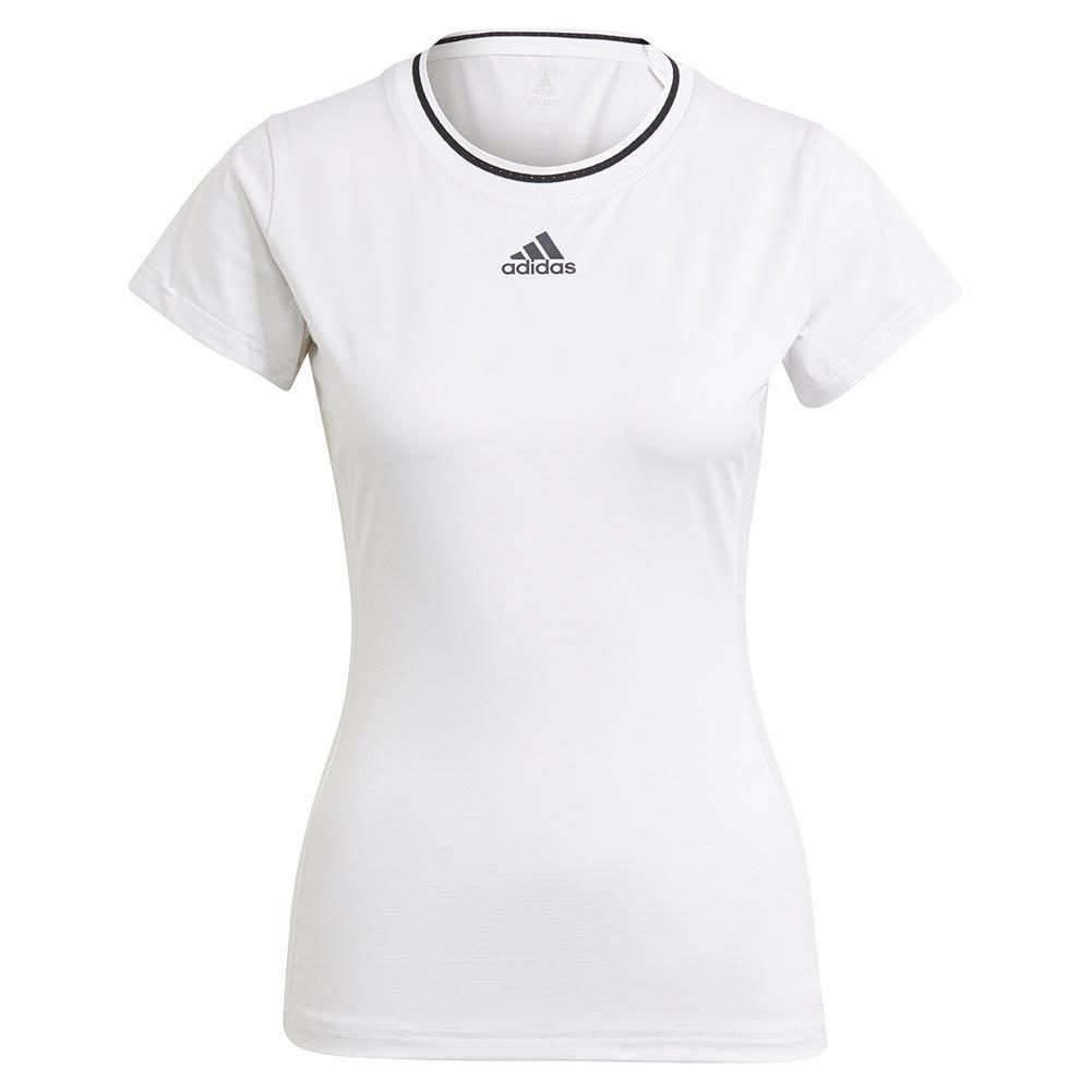 Women's Aeroready Match Tennis Top White And Black