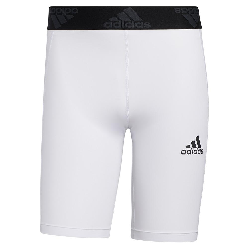Men's Techfit Short Tights White