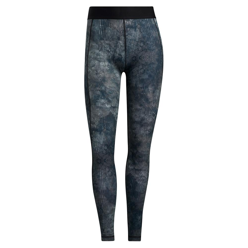 Women's Techfit Floral Long Tight Black And Multicolor
